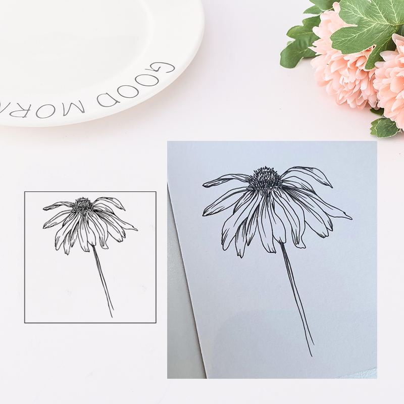 Clear Stamps Flowers New 2019 Rubber Transparent stamp Silicone Seal for DIY Scrapbooking Card Making Photo Album Decor Crafts in Stamps from Home Garden