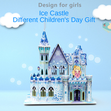 Diy Attractive Cartoon Castle Garden Princess 3D House Puzzle Jigsaw Interesting Learning Educational Toys For Children Kid Gift