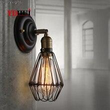 Lámpara de pared Vintage almacén desván país americano industria Retro Vintage hierro pequeñas lámparas de pared Vintage decorativo LED luz de pared