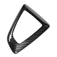 Carbon Fiber Black Gear Shift Knob Cover Decal For BMW F20 F30 F25 F26 F15 1 2 3 4 Series High Quality Car Gear Shift Knob Cover