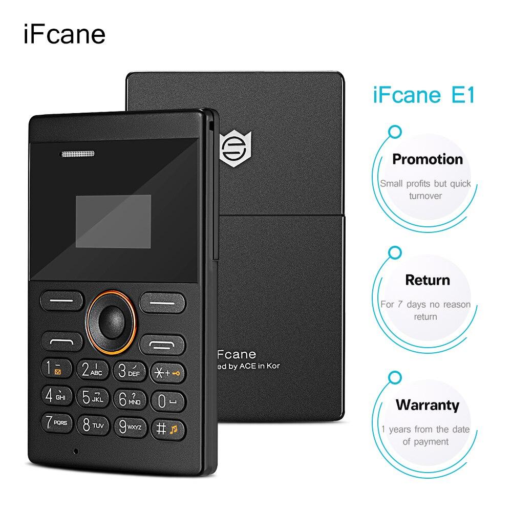 IFcane E1 Phone Quad Band Unlocked Mini Card Phone Bluetooth 2.0 MP3 FM Alarm Clock Super Mini Mobile Phone