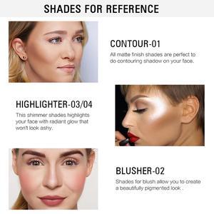 Image 5 - SACE LADY Highlighter paleta de maquillaje, contorno en polvo, bronceador facial mate, colorete pigmentado, paleta cosmética, venta al por mayor