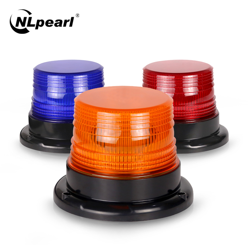 Nlpearl Car Light Assembly Led Emergency Lights for Cars Amber Yellow Red Blue Warning Strobe Light Police Lights Waterproof