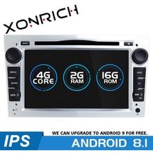 цены на 2 Din Android 8.1 Car Multimedia Player For Opel Astra H Vectra C Zafira b Corsa C D G Meriva Vivaro GPS Navigation Radio DVD  в интернет-магазинах
