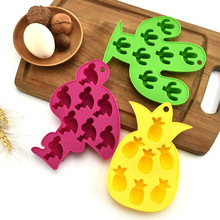 Mold Silicone Flamingo Tray Chocolate-Mold Kitchen-Tool Ice-Cube Candy-Bar Diy Fruit