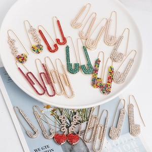 Креативный новый дизайн 2020, бумажные серьги-клипсы для девушек и женщин, женские серьги-подвески с пряжкой для ушей, ювелирные изделия с жем...