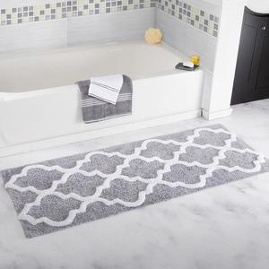 "Carvapet Microfiber Moroccan Trellis Non-Slip Soft Kitchen Mat Bath Rug Doormat Runner Carpet Set, 45""x120""(China)"