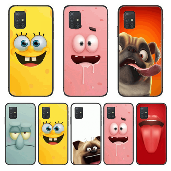 Funny Expression Anime Phone Case Hull For Samsung Galaxy A 50 51 20 71 70 40 30 10 E 4G 5G S Black Shell Art Cell Cover image