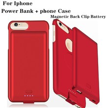 Ultra Thin External 4000/5000mAh Power  Cover For iPhone 8 7 Plus Portable Backup Battery Case For iPhone 8 7 6 6S Plus