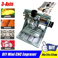 3 Axis Mini CNC Desktop Wood Router Engraver PCB PVC Milling Wood Carving Carving Machine GRBL DIY Set Kit