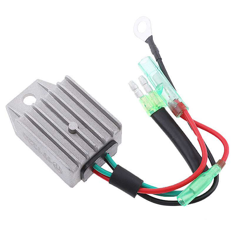 Image 5 - 1 Pcs 4 Wires Boat Voltage Regulator Rectifier Fit Universal 2 Stroke 15HP Marine Boat Outboard 1.57x1.38x0.87″ Aluminium Alloy-in Boat Engine from Automobiles & Motorcycles