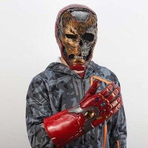 Image 5 - Zombie Iron Man Mask Gauntlet Cosplay Superhero Tony Stark Latex Masks Gloves Halloween Props