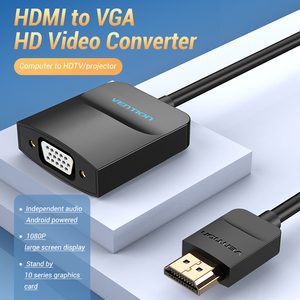 Image 3 - Vention HDMI to VGA Adapter HDMI Male to VGA Female 1080P Digital to Analog Video Audio for Laptop Tablet HDMI to VGA Converter