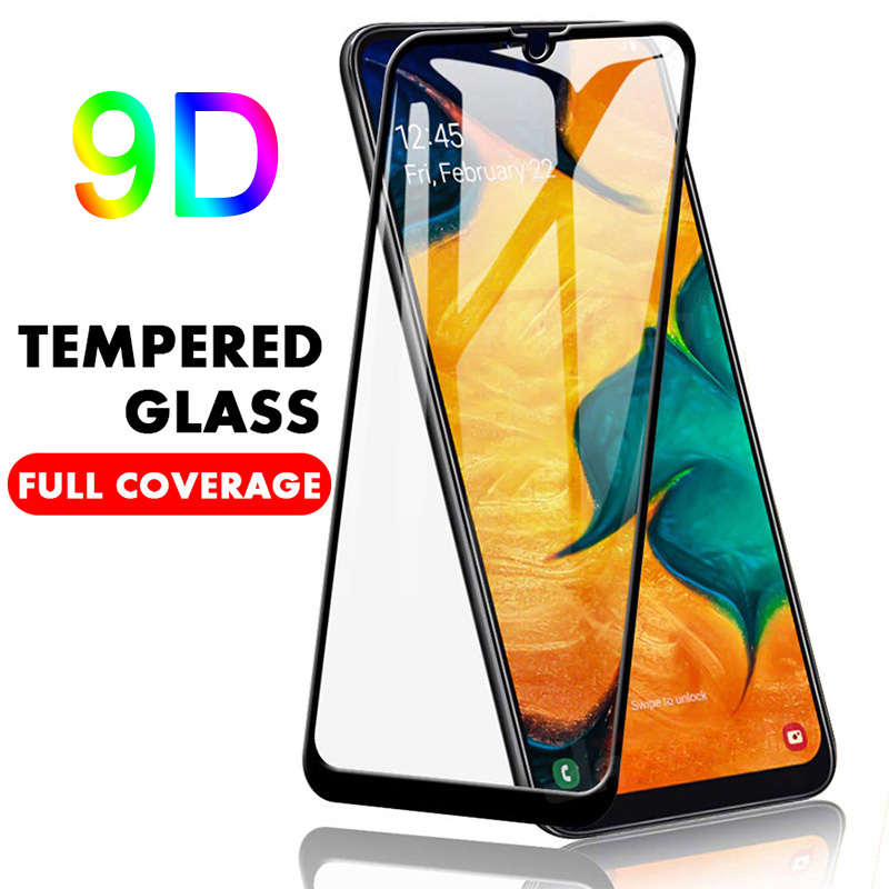 9D Full Cover <font><b>Tempered</b></font> <font><b>Glass</b></font> for <font><b>Samsung</b></font> A50 A70 A90 <font><b>A10</b></font> Protective Screen Protector Film for Galaxy A80 A40 A30 A20 A2 Core image