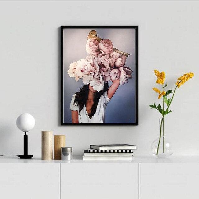 Фото diy 5d diamond painting flower art embroidery mosaic cross stitch цена