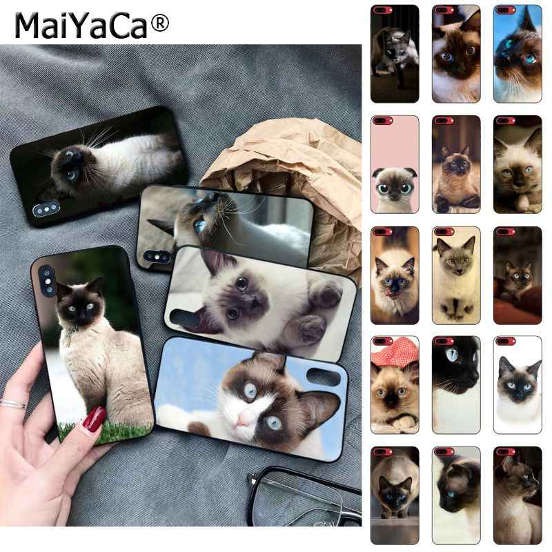 MaiYaCa pet siamese cat Luxury Fashion Phone Case for Apple iphone 11 pro 8 7 66S Plus X 5S SE XS XR XS MAX Cellphones