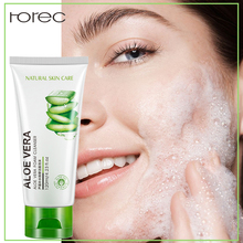 ROREC Aloe Vera Extract Collagen Repair Facial Cleanser Hydrating Oil Control Cleanser Acne Treatment Deep Pore Clean 100g origins zero oil deep pore cleanser with saw palmetto and mint