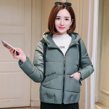 Casual thick cotton quilted hooded jacket large size 3XL yellow Parkas ladies winter and