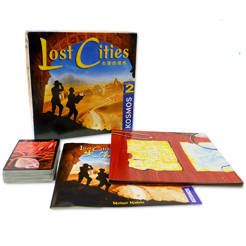 New 2 Player Board Game Lost Cities World Adventure Playing Card Game