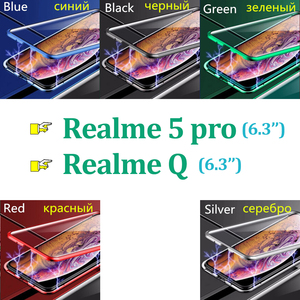 Image 2 - Realme5 pro Glass cases on for oppo realme 5pro Q 360 Double Sided Glass Case realmeQ Magnetic Metal coque (6.3Inch)