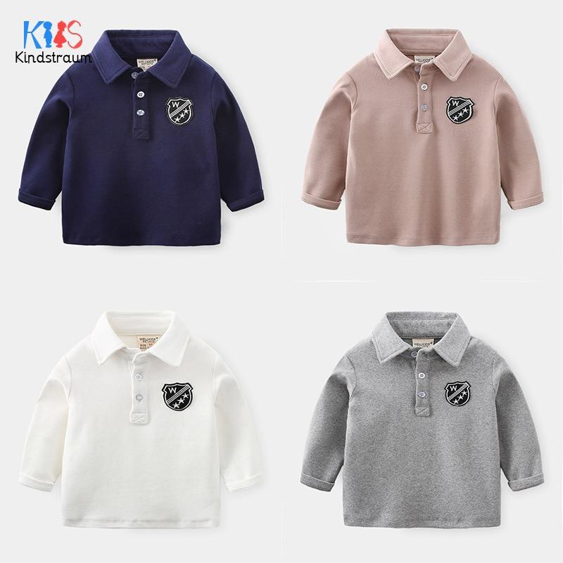 New Boys Girls School Uniform Cotton Solid Long Sleeve Polo Shirt Size 2-15 Yrs