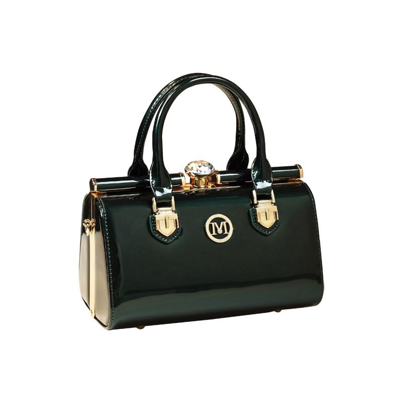 ICEV nouveau designer de haute qualité petit sac à main en cuir verni brillant en cuir sac de messager pour femmes boîte de soirée clip d'embrayage