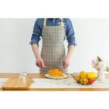 Регулируемый Кухонный маслостойкий фартук, водонепроницаемый фартук для приготовления пищи, Полосатый плед, фартук для шеф-повара, подходит для женских мужских фартуков