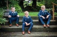 Kid Casual Blazers Suit For Baby Boy Child Coat Fashion Children Jacket   Costume For Boy Blue Graduation Suit H016