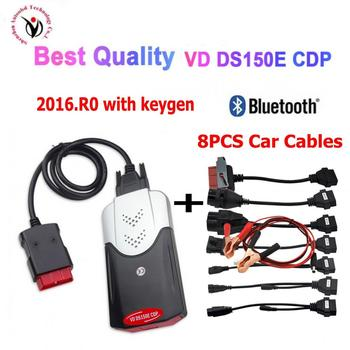 2020 VD TCS CDP PRO Plus 2015R3 /2016r0 keygen with Bluetooth new vci vd ds150e cdp OBD2 Diagnostic Tool+8 car cables can choose 2020 latest tcs cdp pro plus for delphi ds150e cdp cars trucks obd2 diagnostic tools for autocom with full set 8 cables