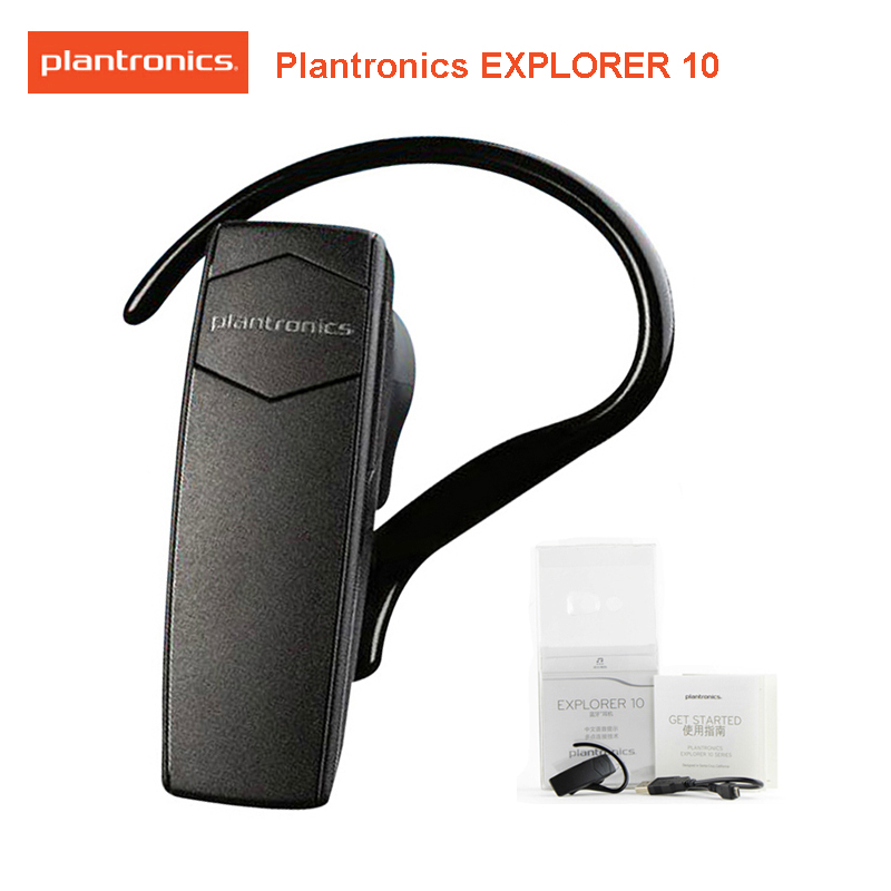 Original Plantronics Explorer 10 Voice Control Noise Canceling Wireless Bluetooth Earphone With Microphone For Xiaomi Sumsung