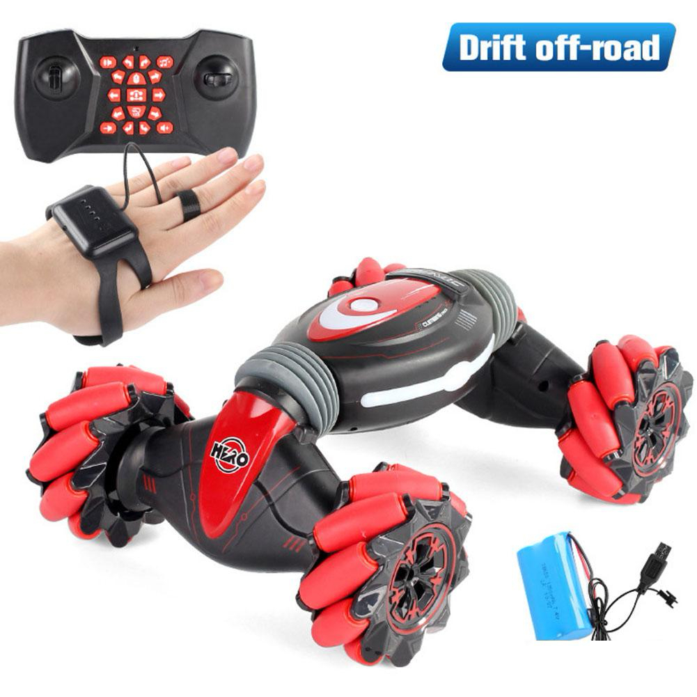Remote Control Stunt Car Gesture Induction Twisting Off-Road Vehicle Light Music Drift Dancing Side Driving RC Toy Gift For Kids image