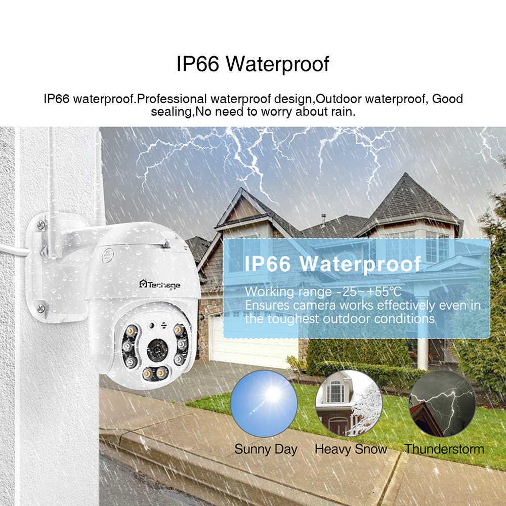 Techage 1080P PTZ WiFi กล้อง H.265X กันน้ำความเร็วโดมกลางแจ้งไร้สายกล้องสองทางเสียงกล้องวงจรปิด CCTV Surveillance กล้อง
