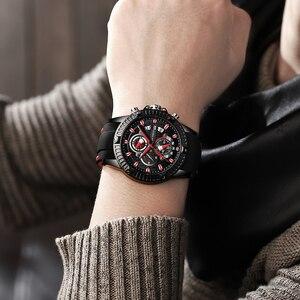 Image 5 - 남성 실리콘 시계 패션 스포츠 쿼츠 시계 남성 시계 브랜드 비즈니스 방수 크로노 그래프 시계 Relogio Masculino