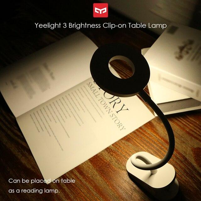 Yeelight Clip on Table Lamp Cordless Portable desk lamp Touching Control 3 Brightness Level Eye Protect Reading Light