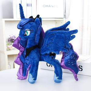 "Image 2 - Unicorn Princess Luna Nightmare Night  Plush Horse Action Toy Figures 12"" 30 CM"