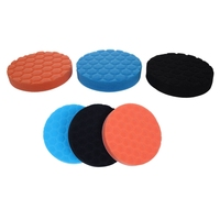 6 Pcs Hex-Logic Buff Buffering Polishing Pad Kit for Auto Car Polisher  3 Pcs 7 Inch & 3 Pcs 6 Inch