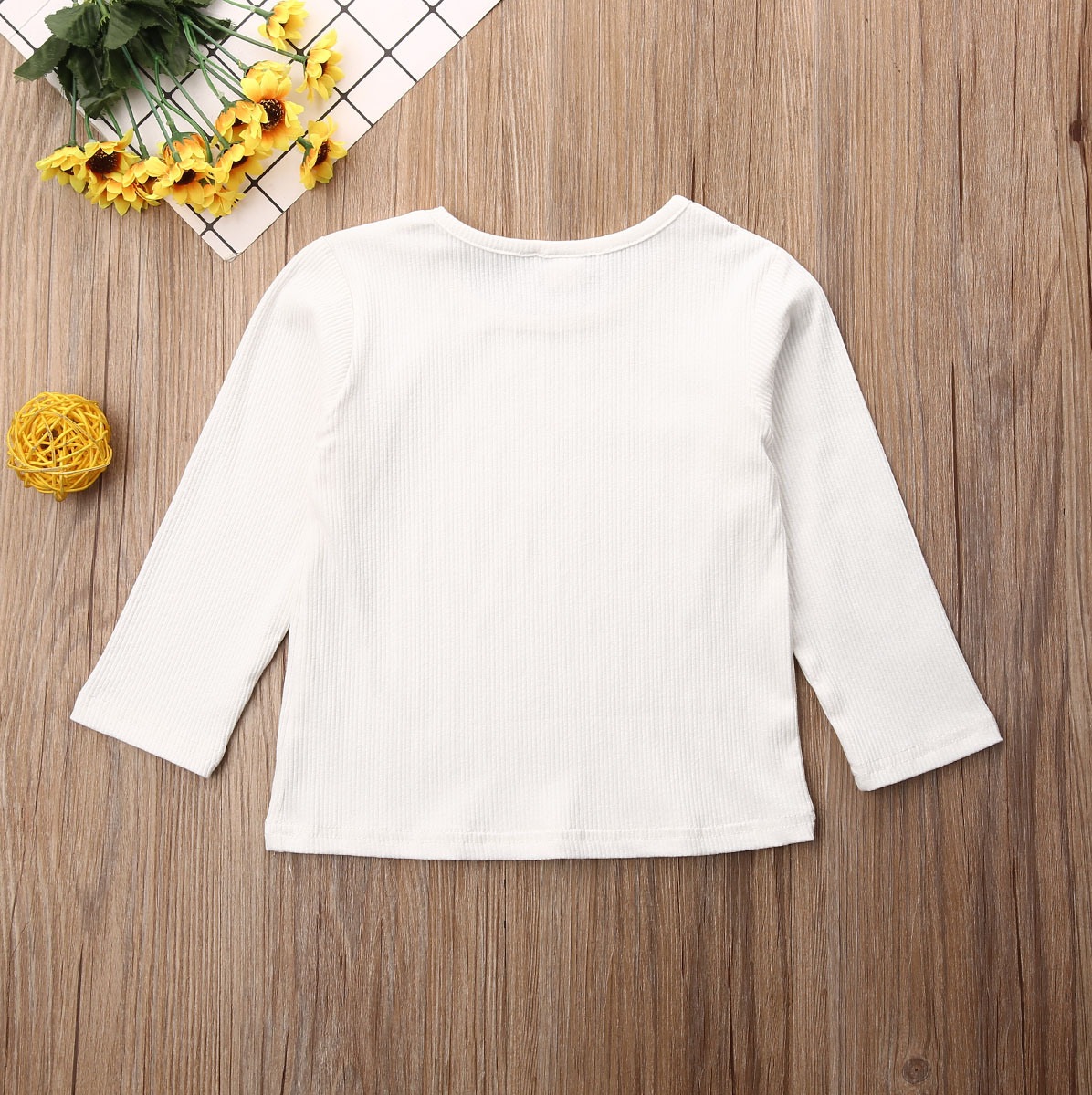Children Kid Baby Girl Boy Long Sleeve Solid Tops Shirts Tee Casual Tops Clothes