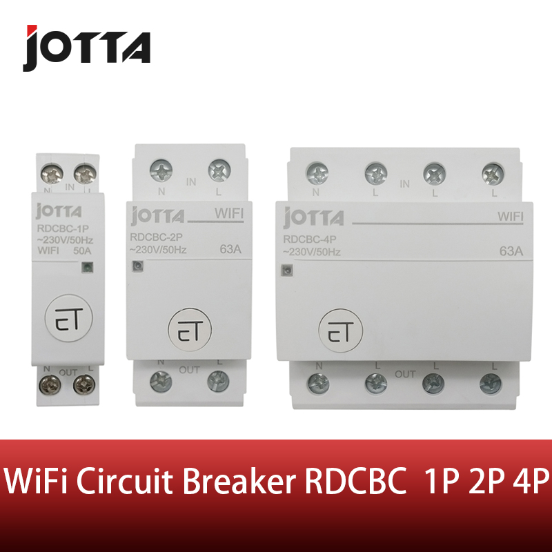 Jotta WiFi Circuit Breaker Remote Control by eWeLink Voice Control With Amazon Alexa and Google Home  RDCBC 1P 2P 4PCircuit Breakers   -