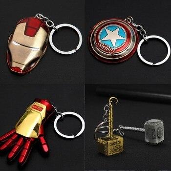 Hot Thor hammer Batman car motorcycle key chain Avengers Superman Thanos glove fist metal hero America Iron Man Mask keychain david walker sanford greene lee loughridge power man and iron fist 1