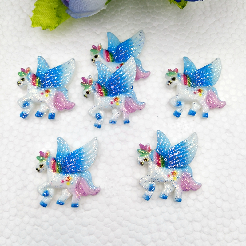 Lot 10 pcs White My Little Pony Horse Resin Flatbacks Scrapbooking Bow Crafts