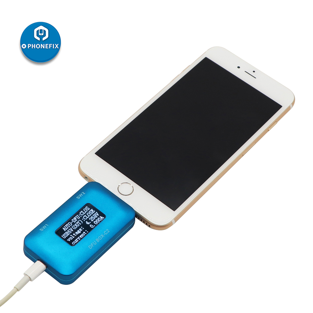JC DFU BOX C2 Restore Reboot For IPhone Motherboard One Key DFU IOS USB Current Voltage Display SN ECID MODEL Information Read