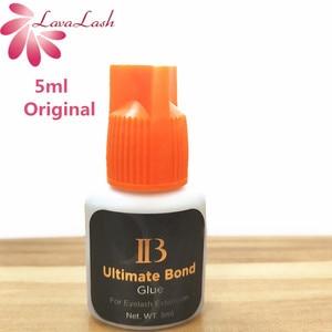 Image 1 - I beauty 1 butelka Korea oryginalny czarny IB Ultimate bond klej indywidualne przedłużanie rzęs klej pomarańczowy cap 5ml sztuczne rzęsy klej