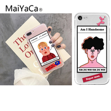 MaiYaCa Funny Lovely Lazy Man Phone Case For iphone X 6S 6 7 8 Plus Ultra thin Soft TPU Transparent Cover