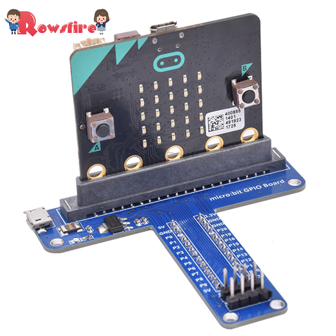 2019 New Hot Python Programming Maker Education Micro:Bit T Shape Development Board Expansion Board