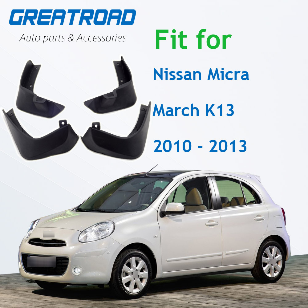 Front Rear Car Mud Flaps For Nissan Micra / March K13 2010 2011 2012 2013 Mudflaps Splash Guards Mud Flap Mudguards Fender|Mudguards| |  - title=