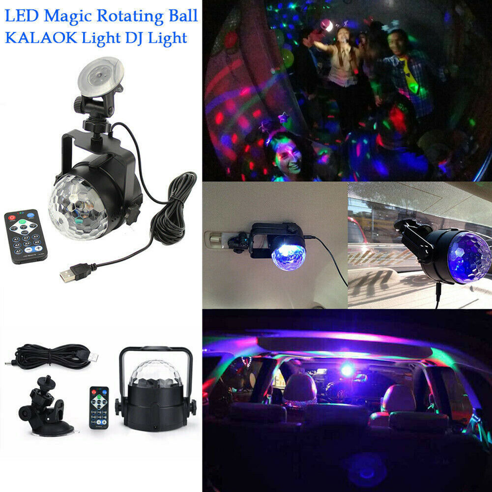 LED RGB Light Ball Lamp USB Charging Remote Control for Car Disco Stage Wedding Party TN99|Stage Lighting Effect| |  - title=