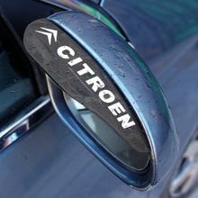 Eyebrow-Cover-Shield Car-Rearview-Mirror Cross Cactus Rain-Water Citroens 2pcs for C0/C1/C2/..