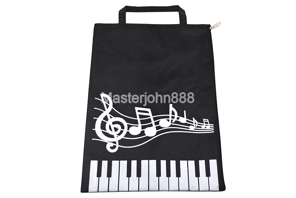 Music Piano Keyboard Music Note Sheet A4 File Oxford Soft Case Document Instruments Parts Bag For Musician Song Writer Artist