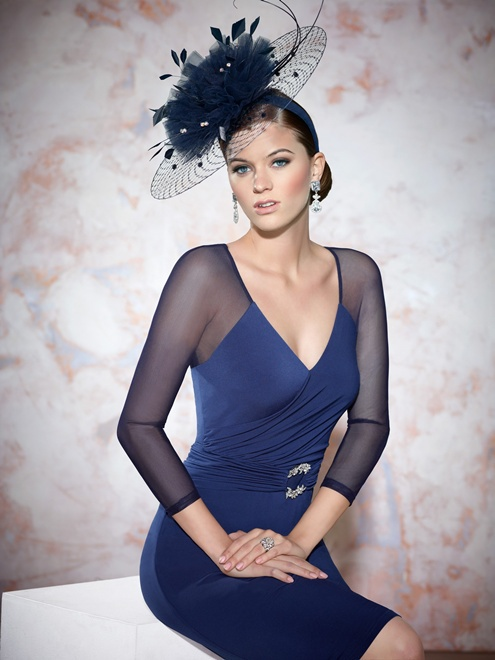 WE-10 Sexy V Neck With Long Sleeves Sheath Knee Length Mother Of The Bride Dresses Zipper Back Custom Made All Colors