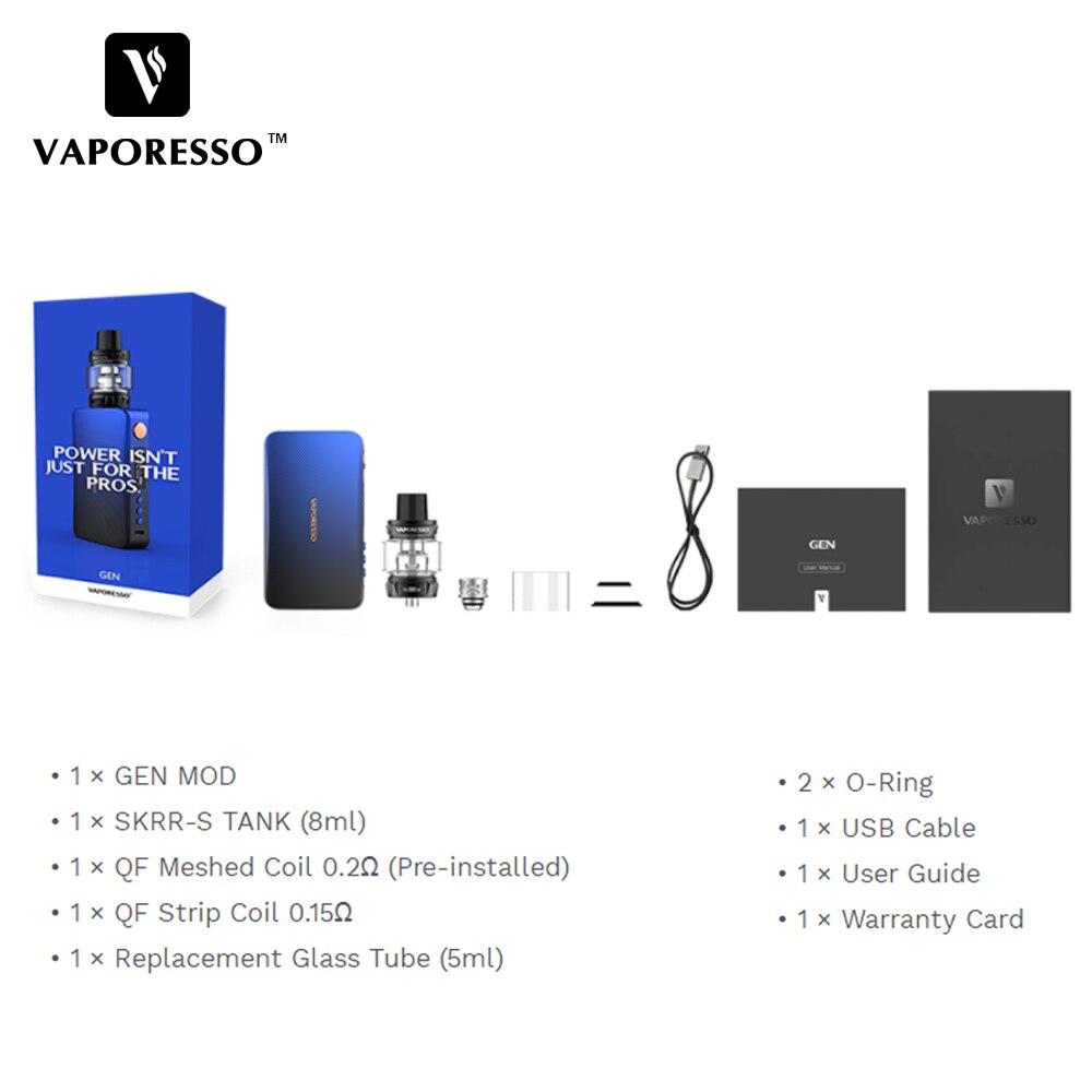 Vaporesso 220W GEN TC Vape Kit with Vaporesso GEN Electronic Cigarette Box Mod & SKRR s Tank use QF Coil GT Coil VS Polar Kit